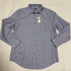 MK Michael Kors Blue Haze Long Sleeve Polo -16 1/2